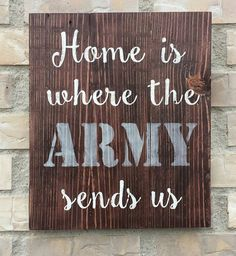 Army Pallet Sign. Reclaimed Wood. Home Decor. Wall Hanging. Home is where the Army send us Reclaimed by PurpleMountainDecor