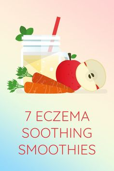 Sooth eczema and other chronic skin rashes with these dairy free, protein-packed skin supportive smoothies! Eczema Psoriasis, Skin Rash, Health Facts, Salad Recipes, Smoothies, Medicine, Learning, Eat, Tips
