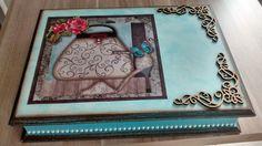 Caixa de biju turquesa