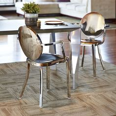 Dalton Home Indoor Chair Collection Polished Round Back Dining Chair (Set of 2) - Overstock Shopping - Great Deals on InnerSpace Luxury Products Dining Chairs