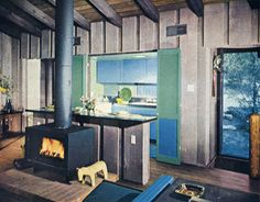 *Franklin Stove    1960s Kitchens - Kitchen Design Ideas - House Beautiful