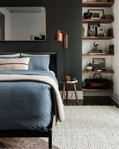 This is a Bedroom Interior Design Ideas. House is a private bedroom and is usually hidden from our guests. However, it is important to her, not only for comfort but also style. Much of our bedroom … Man Room, Home Decor Bedroom, Design Bedroom, Mens Room Decor, Bedroom Modern, Industrial Bedroom Decor, Stylish Bedroom, Bedroom Rustic, Contemporary Bedroom