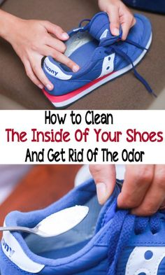 Cleaning the inside of your shoes is essential for foot hygiene. Here is how to take care of your shoes and get rid of the odor in the article below. Diy Cleaning Products, Cleaning Solutions, Cleaning Hacks, Deep Cleaning, Cleaning Supplies, Get Rid Of Stinky Feet, Stinky Shoes, Foot Remedies, Natural Remedies