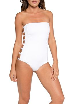 Tavik Cutout Strapless One-Piece Swimsuit available at #Nordstrom