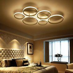 Simple art acrylique salon led plafonnier creative décoration de la maison chambre plafond lampes restaurant éclairage