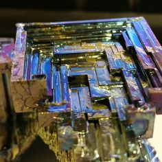 Absolutely beautiful colours & sharp lines on this mineral known as Bismuth #ukge #minerals #nofilterneeded www.ukge.com