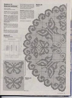 mariposis - butterfly doily
