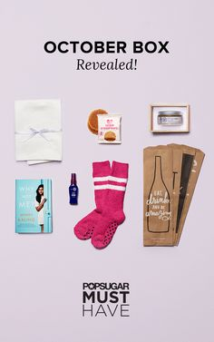 With Fall underway, we're preparing for hibernating and getting cozy indoors. Between Mindy Kaling's hilarious new book, slipper socks designed by POPSUGAR for Breast Cancer Awareness Month, a tasty treat from Belgian Boys, and more, the October box is the perfect way to embrace the colder weather.