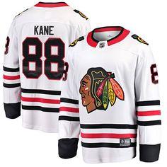 Fanatics Branded Patrick Kane Chicago Blackhawks White Breakaway Player Jersey is available now at FansEdge. Blackhawks Players, Blackhawks Jerseys, Nhl Jerseys, Hockey Players, Nhl Chicago, Chicago Blackhawks, Jonathan Toews, Patrick Kane, New York Rangers