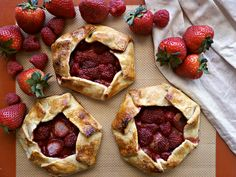 Strawberry-Raspberry Galettes... We added sweet cherries to the mix.  They were delicious!