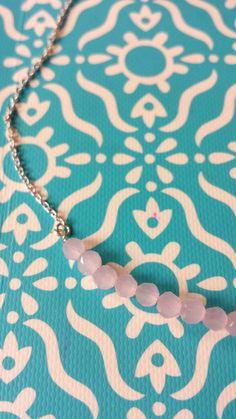 gargantilla rose por MACALAR en Etsy, €6.00 #colgante #gargantilla #rosa #necklace #trendy #fashion #bisuteria #accesorios #mujer #blog #blue #accessories