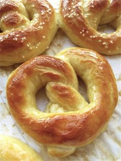 Hot Buttered Soft Pretzels: twisted bliss. from kingarthurflour.com/blog