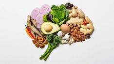 Colorful vegetables and fruits—such as leafy greens, peppers, beets, green beans and berries— as well as dark chocolate, caffeine , and whole grains are all great for brain health.   Health.com