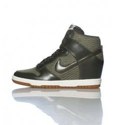 Femme Nike Dunk Sky High Wedges High Heels Chaussures Noir & Ivory Blanche Brun 543257-010