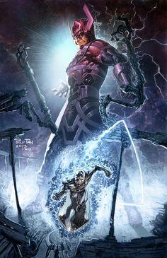 Galactus & His Herald, The Silver Surfer by Philip Tan (Marvel comics) Marvel Dc Comics, Heros Comics, Comics Anime, Marvel Villains, Bd Comics, Marvel Vs, Marvel Heroes, Captain Marvel, Silver Surfer