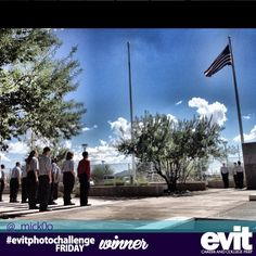 Congratulations to Micko for being one of the winners for this week's #evitphotochallenge! He took a photo of the EVIT Law Enforcement program at the East Campus raising the American flag. His prize will be delivered Thursday afternoon.  http://instagram.com/p/eXcy59OvpO/