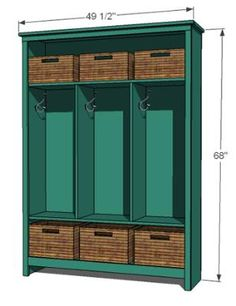 How to Build a Storage Locker - Furniture Projects | Fresh Home