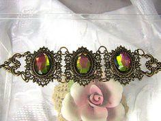 Victorian Style Brass Bracelet by ATestOfTime on Etsy, $26.00