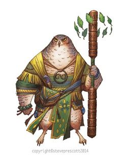 Owl warrior monk, Redwall style fantasy inspiration From SoulSpark - Real-Time Card Battles - Vin of Nod