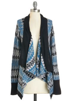 Favorite Film Cardigan. Cozy up to the silver screen in the cool tones of this cardigan. #blue #modcloth