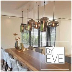 Lamps DIY How To Make - Farmhouse Standing Lamps - Gold Lamps Redo - Industrial Lamps Eettafel - Side Lamps Bedroom Dining Room Design, Modern Dining Room, Lamp, Home Lighting, Wood Chandelier, Chandelier Decor, Lounge Lighting, Dinning Room Lighting, Home Decor