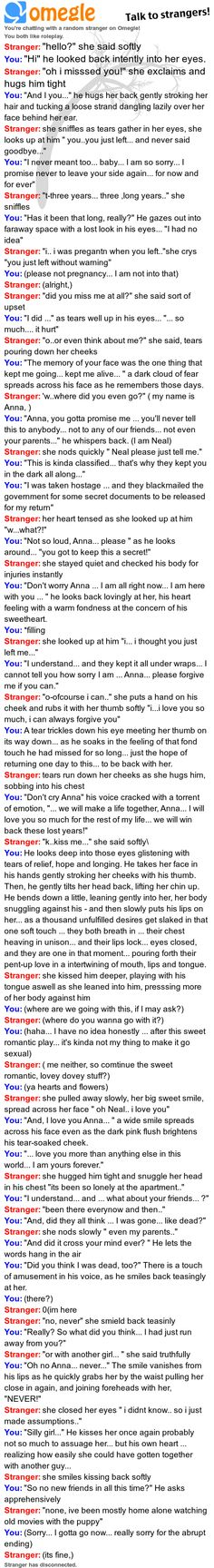 Romantic roleplay on Omegle.