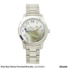 Polar Bear Oversized Bracelet Watch. Color: black, gold, silver or two-ton