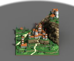 """Sir carma on Twitter: """"Other views of my latest scene, using Marching Cubes rendering #voxel #gamedev http://t.co/LgNWehhJDQ"""""""