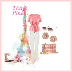 Think Pink, created by mitika1980 on Polyvore