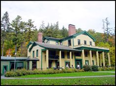 glen iris inn, letchworth state park.  and they have the best rhueben sandwich in the world!