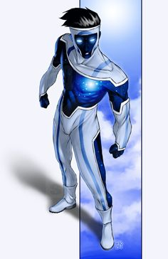 Rogue Star - The Living Legends/The Infi-Knights Superhero character inspiration Superhero Suits, Superhero Characters, Superhero Design, Comic Book Characters, Comic Character, Comic Books Art, Fantasy Characters, Comic Art, Fantasy Character Design