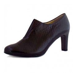 Peter Kaiser Hanara | Ladies Black Patent Leather Shoe Boots | Mozimo