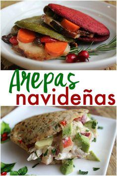 Aquí encuentras deliciosas recetas de arepas navideñas. Arepa fit para la época más bonita del año.