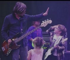 I love this. Tim with his son Jett  daughter Layla. I think it's so cute that Jett is wearing a Vice Verses shirt!