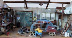 Diorama Restaurator 1/18 - Kaufen/Verkauf Diorama Restaurator modellauto - Online-modellautos.at