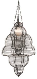 Birdcage 1-Light Pendant, Black
