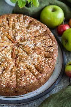 äppelkaka med mandelmassa