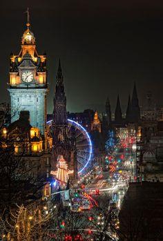 Places we've been -Night Lights, Edinburgh, Scotland