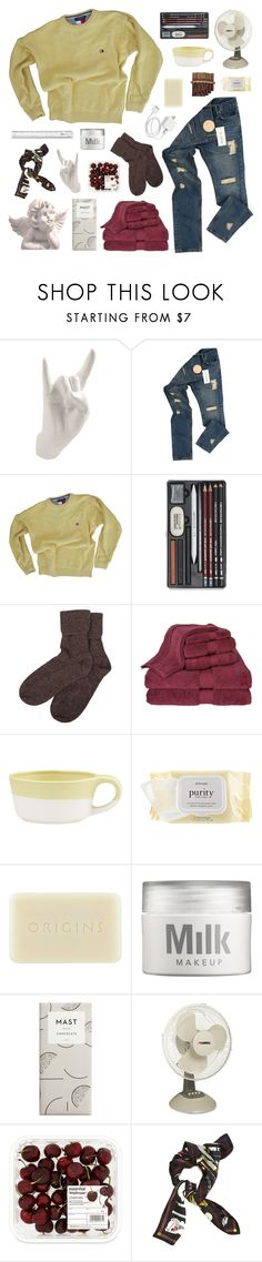 """now nothing ever last forever"" by golden-rod ❤ liked on Polyvore featuring Thelermont Hupton, Raf Simons, Tommy Hilfiger, Brora, Calcot, Crate and Barrel, philosophy, Origins, MILK MAKEUP and Lorell"