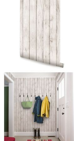 Wood White Peel and Stick Wallpaper  - Wall Sticker Outlet