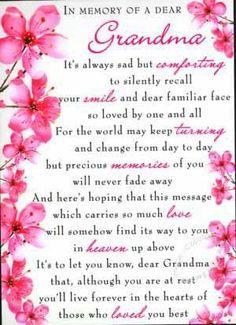 Missing Grandma Quotes for Facebook | Grandma... | In Memory~ Loss~ Family~Pets