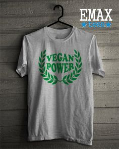 ETSY BIRTHDAY SALE Vegan T Shirt Power Girl Vegans Tees Graphic Shirts Womens Tshirt Clothes Unisex