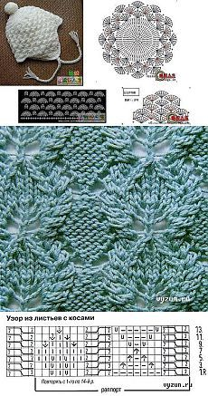 Ideas For Crochet Lace Pattern Charts Knitting Stitches Lace Knitting Stitches, Lace Knitting Patterns, Knitting Charts, Lace Patterns, Knitting Designs, Knitting Wool, Knitting Needles, Diy Crafts Knitting, Knitting Projects