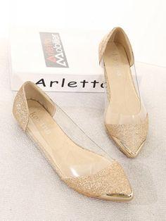 Metal cusp heel design super fashionable shoes
