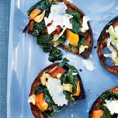 Squash-and-Kale Toasts | Food & Wine . Steven Satterfield is a huge fan of kale--especially when it's combined with sweet roasted squash. Look for Tuscan kale (also called Lacinato or Dinosaur kale) when possible; it's tender and tasty.