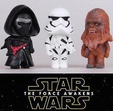 3x Star Wars Wookie Dark Night Vader Storm Trooper Figure Cake Topper Figurine