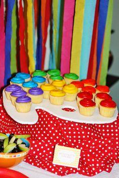 "Photo 40 of 40: Chevron Rainbow Art / Birthday ""Madelyn's Rainbow Art Party"" | Catch My Party"