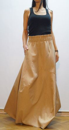 Long Loose Linen Skirt/Summer Maxi Skirt/Beige Extravagant Maxi Skirt/Summer Dress/Casual Skirt With Pocket/F1460 by FloAtelier on Etsy https://www.etsy.com/uk/listing/223681349/long-loose-linen-skirtsummer-maxi