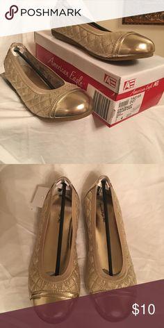 American Eagle ballet flats American Eagle gold Ballet Flats American Eagle by Payless Shoes Dress Shoes