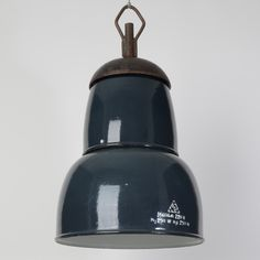 Trainspotters.co.uk - Industrial hungarian blue grey pendants